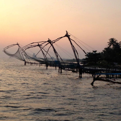 Kochi, Cochin, fishing nets, sunset, Indian Cooking, Food Travel, Food Tourism, Indian Food, Culinary Tours, Faces Places and Plates Blog