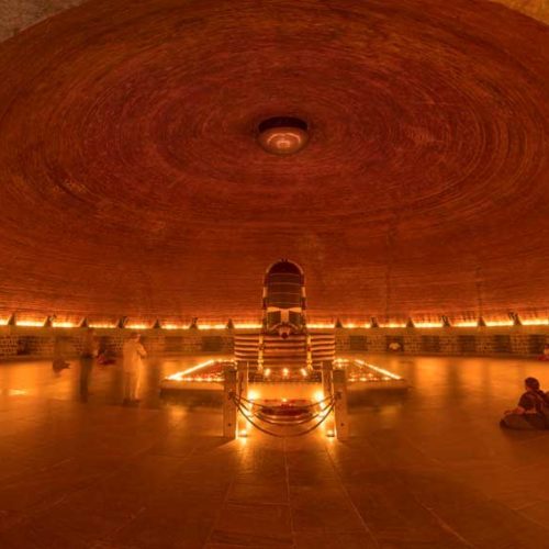 The Dhyanalinga at Isha Yoga Center in Coimbatore, India