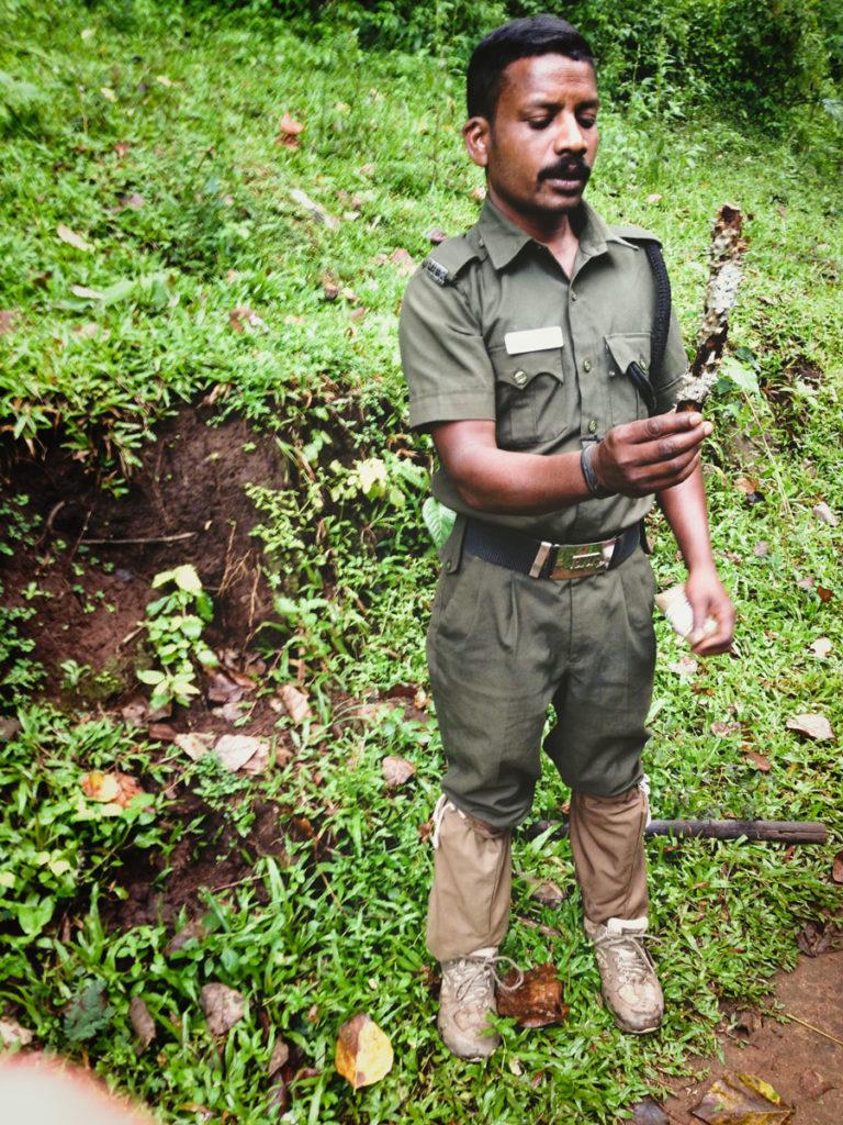 Periyar jungle walk guide.